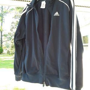 Adidas Navy Blue Zip-Up Warm Up Jacket
